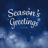 seasons greetings calligraphy card vector design