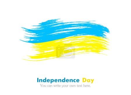 Photo pour Le drapeau ukrainien. Jour de l'indépendance. Drapeau peint avec un pinceau à peinture. Drapeau grincheux. Style grunge. Brushstroke . - image libre de droit
