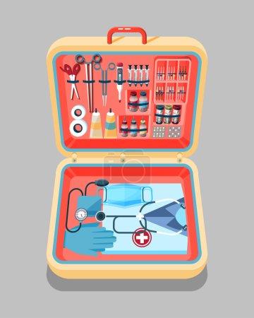 illustration of medical supplies