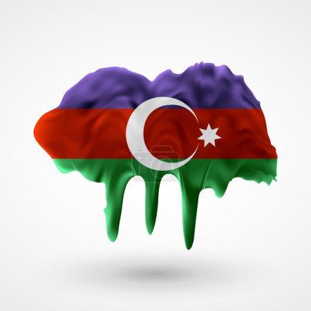 Azerbaijani flag painted colors