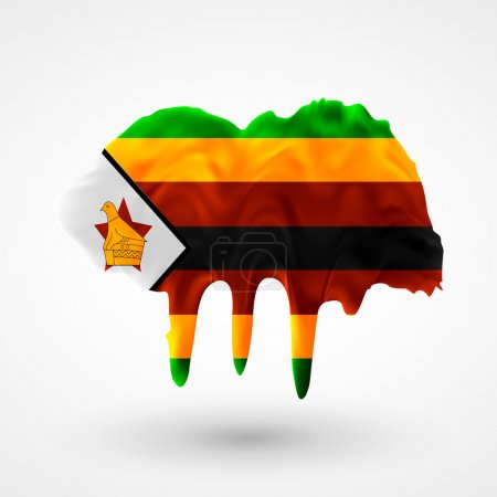 Flag of Zimbabwe painted colors