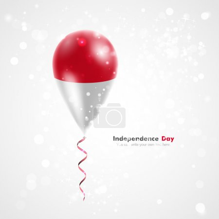 Flag of Indonesia on balloon