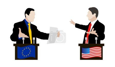 The debate between speakers. Rhetoric