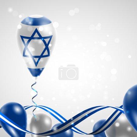 Flag of Israel on balloon