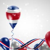 Flag of Costa Rica on balloon