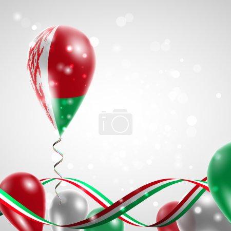 Flag of Belarus on balloon