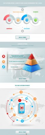Infographics element with  pyramid