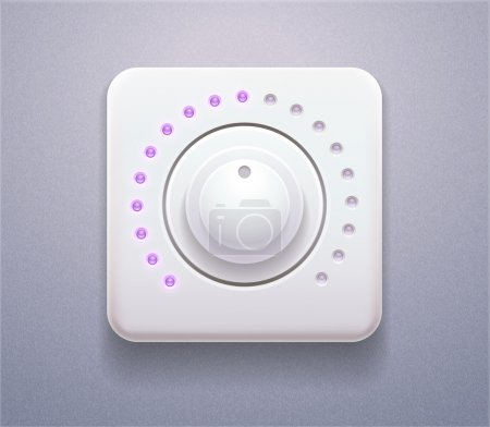 Realistic Icon of control Panel