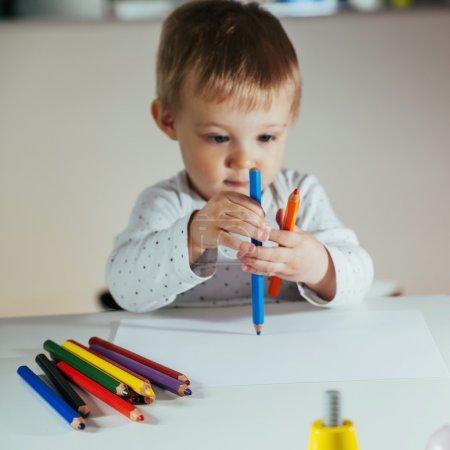 Little Boy Drawing