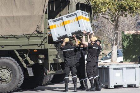 ALICANTE COAST, SPAIN - FEBRUARY 15. Search and rescue maneuvers