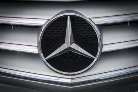 Altea, Spain - 31 October2015, detail logo of car brand Mercedes