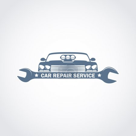 car repair service monochrome logo