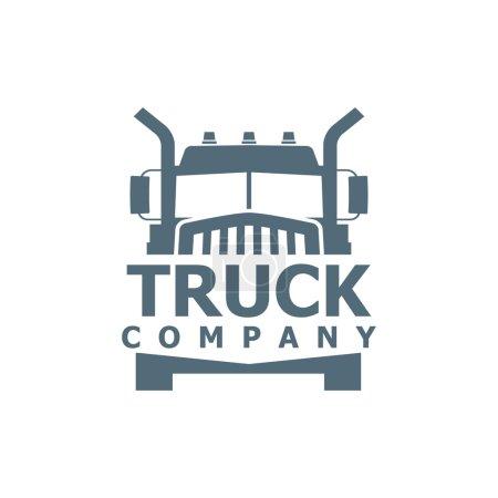 Illustration pour Logo vectoriel camion monochrome pour la société de livraison - image libre de droit