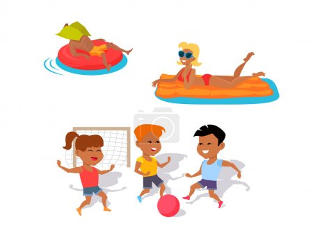 Plaisirs d'été et les distractions Illustration