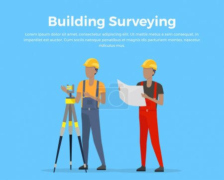 Building Surveying Vector Illustration