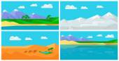 Set of Natural Landscapes in Flat