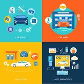 Car service car wash gas station auto diagnostics
