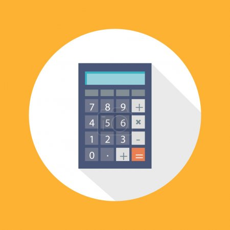 Calculator Flat Concept Icon
