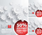 Merry Christmas background with discount percent