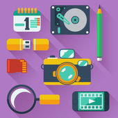 Data storage devices icons