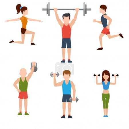 Exercises with weights icons