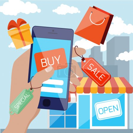 Mobile marketing and shopping concept