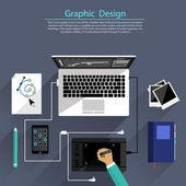 Graphic design and designer tools concept