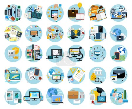 Icons set banners for business