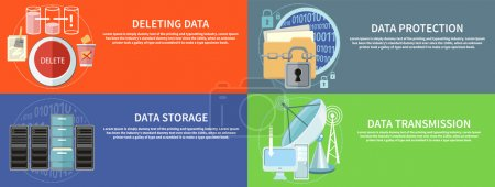 Data protection, transmission, storage and delete