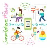 Smartphone és a szociális média mánia
