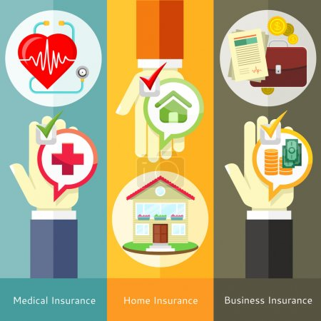 House , business, medical and health insurance