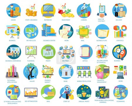 Set of Busines Icons