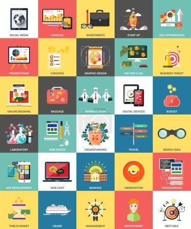 Ensemble d'icônes de concepts d'entreprise