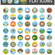 Постер, плакат: Icons of Traveling Vacation Tourism Journey