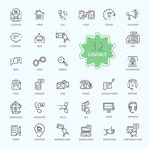 Thin Lines Icons of Contact