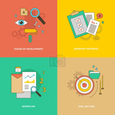 Initial stage is goal setting. Formation of the wo...