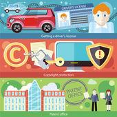 Set Concept Driver License, Patent Copyright