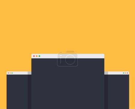 Mockup Web Page Window Design Style