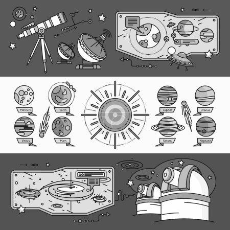 Concept Scientific Cosmos Flat Style