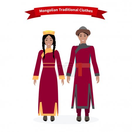 Mongolian Traditional Clothes People