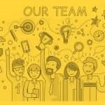 Постер, плакат: Our Success Team Linear Design
