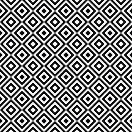 Illustration for Seamless Vector Black and White Art Deco Background Pattern Texture Wallpaper - Royalty Free Image