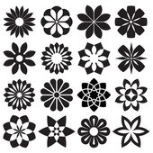 Vector Set of Graphic Flowers