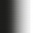 Fine halftone dots pattern gradient in vector form...