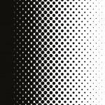 Halftone dots pattern gradient in vector format...