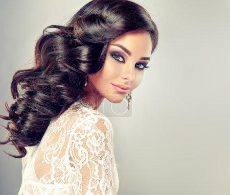 Woman with stylish make up