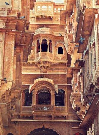 Carved windows in Mandir Palace