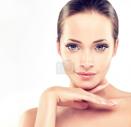 Woman with Clean Fresh Skin