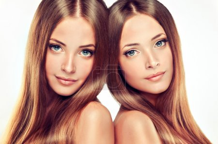 Beautiful girl twins