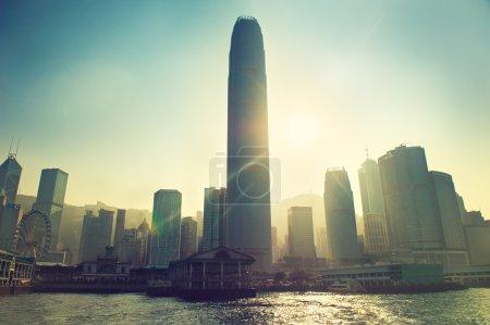 Hong Kong city buildings